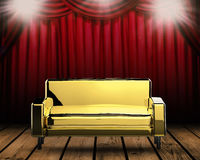 3d rendering gold sofa Stock Photo