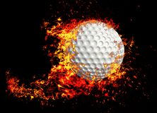 3D rendering, golf ball, royalty free stock photo