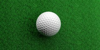 3d rendering golf ball on grass. Background Royalty Free Stock Photography