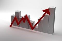 3D Rendering Graph, Concept Design. 3D Rendering of Graph, Concept Design Stock Photos