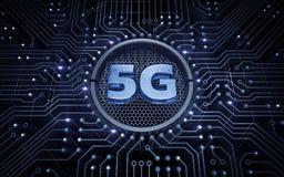 5G - 5th Generation Wireless Systems. 3D rendering graphic illustration on the theme of `Wireless Technologies / Mobile Networks royalty free stock photo