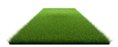 3d rendering of a grass patch isolated on white for architecture. Design or othe use Royalty Free Stock Photo