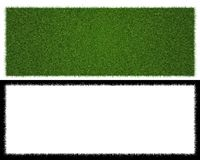 3d rendering of a grass patch  on white for architecture. Design or othe use Royalty Free Stock Photography