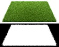 3d rendering of a grass patch  on white for architecture. Design or othe use Royalty Free Stock Photos