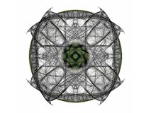 3D rendering with gray abstract fractal pattern.  Stock Photos