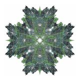 3D rendering with green abstract fractal pattern.  Stock Photography