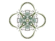 3D rendering with green abstract fractal pattern.  Stock Image