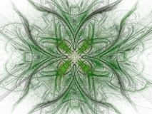 3D rendering with green abstract fractal pattern.  Royalty Free Stock Photos