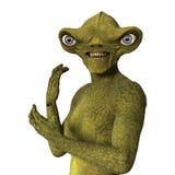 3D Rendering Green Alien on White. 3D rendering of a green alien  on white background Stock Images