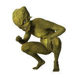 3D Rendering Green Alien on White. 3D rendering of a green alien isolated on white background Stock Photos