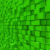 3d rendering of green cubic random level background. 3d rendering of acstract green cubic random level background Stock Photos