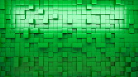3D rendering. Green extruded cubes. Abstract background. Loop. stock footage
