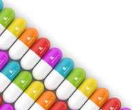 3d rendering of group B vitamin pills Royalty Free Stock Images