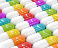 3d rendering of group B vitamin pills Stock Photo