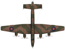 3d Rendering of a Handley Page Halifax Stock Photo