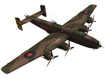 3d Rendering of a Handley Page Halifax Profile Stock Image