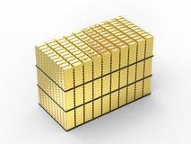 Heap of gold bullion. 3d rendering heap of gold bullion on white background vector illustration