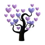 3D Rendering Heart Tree on White. 3D rendering of a heart tree isolated on white background Royalty Free Stock Images