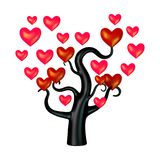 3D Rendering Heart Tree on White. 3D rendering of a heart tree isolated on white background Stock Image