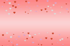 3D rendering of hearts with abstract background. Love background conept vector illustration