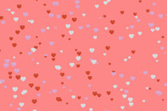 3D rendering of hearts with abstract background. Love background conept stock illustration