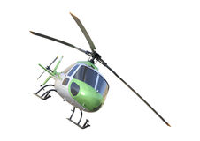 3D Rendering Helicopter on White Stock Photography
