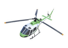 3D Rendering Helicopter on White Royalty Free Stock Image
