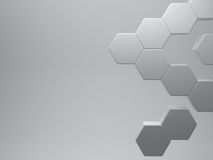 3d rendering Hexagon abstract, grey background, rendering illus. 3d rendering Hexagon abstract,grey background, rendering illustration vector illustration