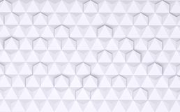 3D rendering of hexagonal wall tiles, Material white plastic for your project or interior design decorative tile & elements. High quality seamless realistic royalty free illustration