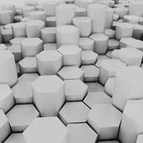 3d rendering of  hexagons background,. 3d rendering of  hexagons background Royalty Free Stock Image