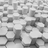 3d rendering of  hexagons background,. 3d rendering of  hexagons background Royalty Free Stock Photos