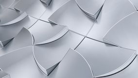 Clean and shining. 3d rendering high tech metal curve in silver chrome Stock Images