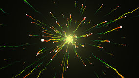3d rendering Holiday background with Glittering Star Particle Stock Photo