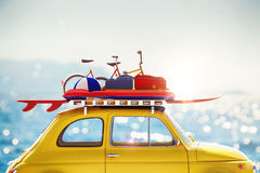 3D rendering of holiday on the road Royalty Free Stock Image