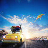 3D rendering of holiday on the road Stock Photography