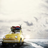 3D rendering of holiday on the road Royalty Free Stock Photo