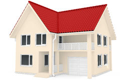3D rendering of  house on white background Stock Photo