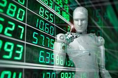 Robot analyze stock Royalty Free Stock Photography