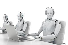 Robot call center royalty free illustration