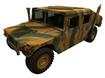 3d Rendering of a Humvee Royalty Free Stock Photo