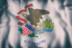 Illinois State flag. 3d rendering of an Illinois State flag Royalty Free Stock Photos