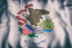 Illinois State flag Royalty Free Stock Photos