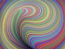 3D Illustration Colorful Abstract Background royalty free stock photo