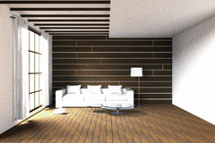 3D rendering : illustration of easy living room  Stock Photography