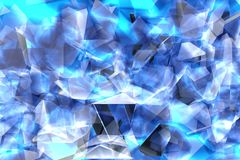 3d rendering illustration of glass splinters blue green texture royalty free stock images