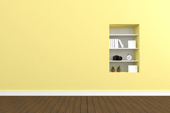 3D rendering : illustration of pastel wall interior  Royalty Free Stock Image