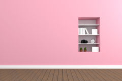 3D rendering : illustration of pastel wall interior Royalty Free Stock Photo