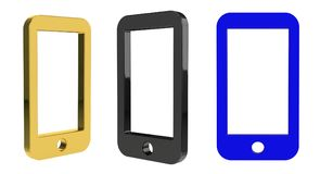 3d rendering illustration of the phone Stock Photos