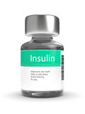 3d rendering of insulin vial  over white Stock Photos