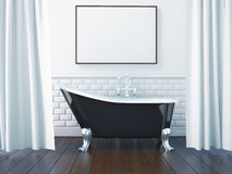 3d rendering interior of a bathroom royalty free illustration